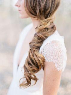 Love this simple hairstyle! #BridalFantasy