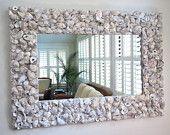 "Oyster Shell Mirror // 31"" x 23"". $400.00, via Etsy."