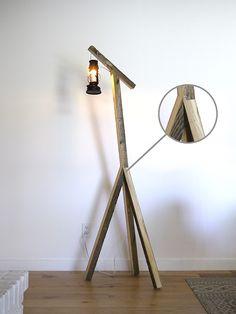 Rustic Floor Lamp DIY Project - Erin Loechner