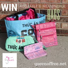 Win an adorable four piece set of byTavi purses, handmade by women being set free from poverty and trafficking.