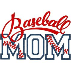 digital baseball quote images | Sayings (A1291) Baseball Mom Applique 6x10