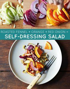 fennel + red onion + orange = self-dressing winter salad | 33 Genius Three-Ingredient Recipes