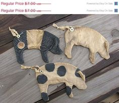 Welcome Spring Sale Primitive Pig Flat by Rabbithollowprims, $6.30
