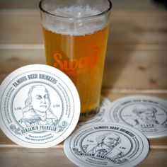 Drink your way through history with these coasters that profile famous people who shared one very important characteristic - their love for beer.