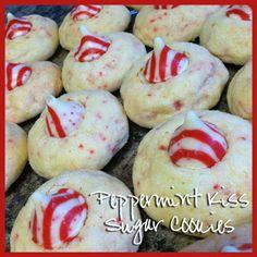 Peppermint Kiss Sugar Cookies