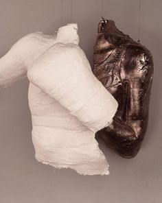 My Amazing Friend....Sculptor Paloma Lidzy.  Honor Bound (detail)  2011  bronze cast, plaster bandages, mixed media  38 in. 30 in. 10 in.