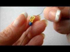 Basic Beading Stitches: Ladder Stitch #tutorial #beading
