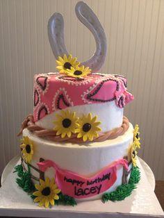 Cowgirl Birthday Cake - I sooooo love this!!!!
