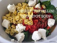 Cheesy Tortellini Crockpot Soup -- Easiest and Best Crockpot Meal