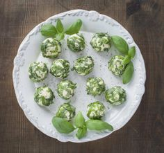 Basil Goat Cheese Balls - 	 Creamy sampler for those who love goat cheese! Makes a great cocktail snack or on a buffet table.