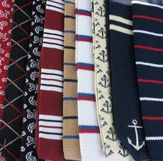 Fashion Piece: Knitted Ties anchors, dapper style men, accessori, men style, men fashion, ties, knit tie, gentleman, nautic