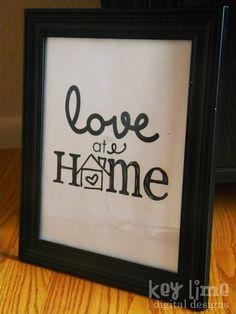 {{FREE}} Love at Home Printable!