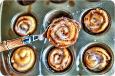 no yeast Mini Cinnamon Buns