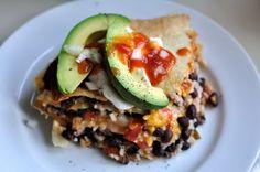 Easy Vegetarian Tortilla Pie by kohlercreates #Tortilla_Pie #Veggie #Easy #Healthy