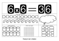 Tafelsom 6x636 1 leren van tafels