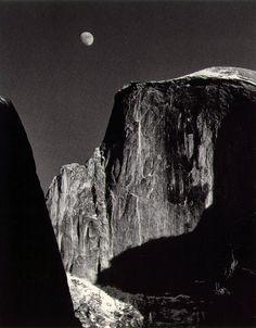 Ansel Adams  Moon and Half Dome,  Yosemite Valley 1960