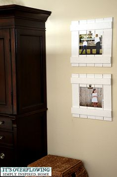 DIY Frame, a modern knockoff of my shabby chic DIY Frames made with reclaimed wood!