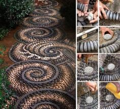 How to build beautiful stone garden path step by step #DIY tutorial instructions