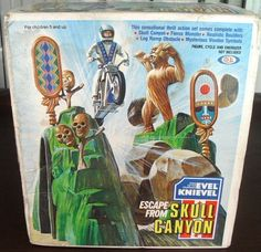 IDEAL: 1975 Evel Knievel Escape From Skull Canyon #Vintage #Toys
