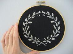 ... Cross stitch design laurel wreath