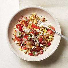 Mexican Broiled Corn Salad | CookingLight.com #myplate #fruit #veggies #dairy