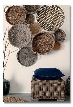 Love baskets on the wall!