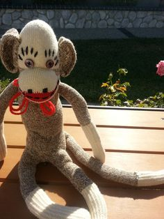 Vintage toy sock monkey by terbearco on Etsy, $19.99