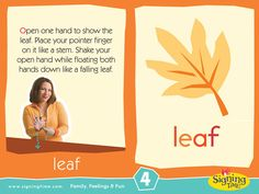 Learn Sign Language » Sign of the Week – Leaf