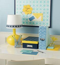 Martha Stewart Crafts has everything you need to stencil your desk essentials.