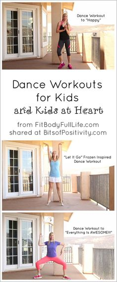 "Dance Workouts to ""Happy,"" ""Let It Go,"" and ""Everything Is AWESOME!!!"" for Kids and Kids at Heart"