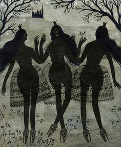 three black princesses print by ybryksenkova on Etsy, $25.00