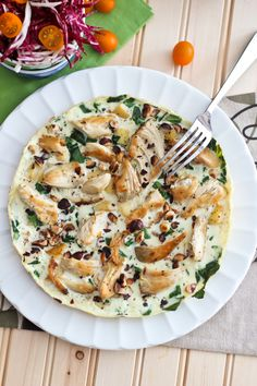 Apple Chicken Egg White Omelet | by Sonia! The Healthy Foodie #whole30 #paleo #healthy #breakfast