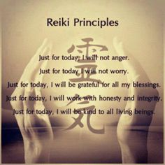 Reiki principles via raw for beauty