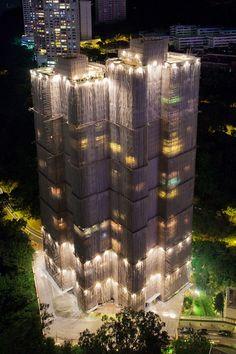 waterfal build, hong kong, waterfalls, hongkong, architectur, skyscrap hong, cocoon skyscrap, buildings, waterfall building