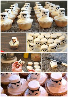 The Easiest Way Ever To Make Storm Trooper or Clone Trooper Cupcakes for your Star Wars Party #Birthday #StarWars #Cupcakes #Party