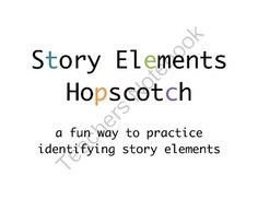 Story Elements Hopscotch from HappySpeech on TeachersNotebook.com -  (43 pages)  - practice story elements while moving