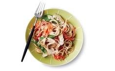The classic creamy pasta dish gets lightened up for spring.