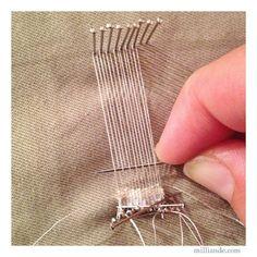 Pin Weaving , Mini Weaving Loom DIY for UnRuly Cloth & Canvas