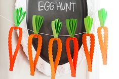 Easter carrot garland - 15 Easter Crafts, Activities, and Treats for Kids I Easter Ideas for Kids - ParentMap