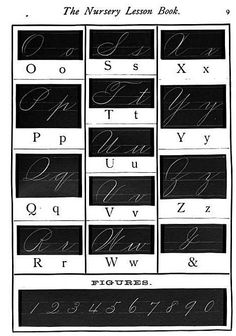 Cursive alphabet  and numbers. Great pic! Have a look at this Cursive Handwriting post. http://www.tpt-fonts4teachers.blogspot.com/2013/02/cursive-style-fonts-family.html