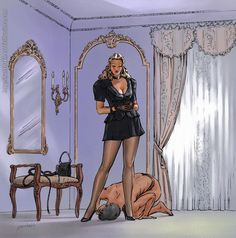 "Perfect illustration for ""Brutal Femdom"" story"
