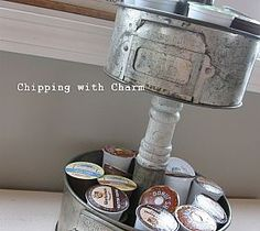 A fun way to store all those K-cups using Cake Pans!