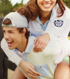 cute little preppy couple. i want this relationship. Hehe