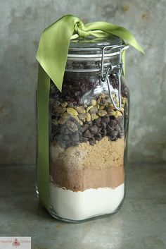 Homemade edible gifts by Heather Christo ~ Biscotti in a Jar