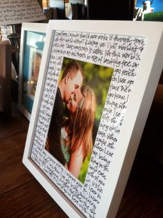 Lyrics of couples first dance song with picture... so cute <3