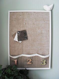 burlap bulletin board