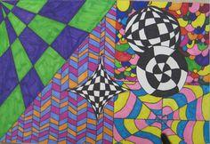 Op Art - Schoo Middle School Art
