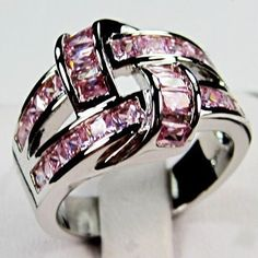 'Size 7, 8 Pink Interlock 10K Gold Filled Ring ' is going up for auction at  1am Thu, Oct 25 with a starting bid of $5.
