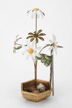 decor, jewelry stand, daisies, simpl daisi, daisi jewelri, daisi haze, jewelri stand, thing