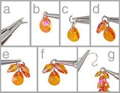 Cascade Earrings How to tutorial swarovski earrings DIY